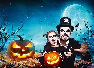 Dudaacvt 7ft x 5ft Halloween Party Club Scene Photography Moon Pumpkin Backdrop Photo Background Studio H0260705