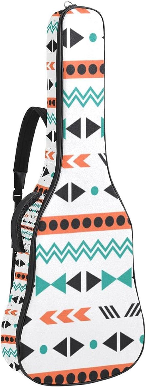 Acoustic Guitar Bag Max 58% Sale OFF Boho Style Adjustable Shoulder Strap Pattern