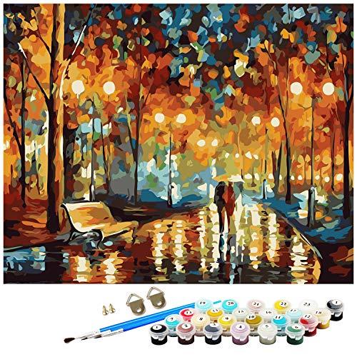 Dream N Jump Malen Nach Zahlen Erwachsene Anfänger Kinder, DIY Ölgemälde auf Leinwand Geschenk Malen Nach Zahlen Kits-Ohne Rahmen (LS2011)
