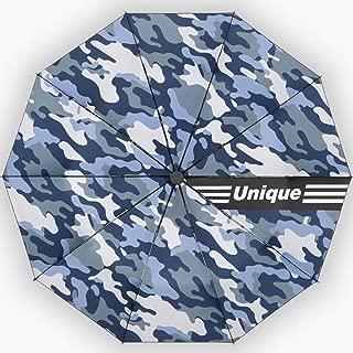 Home Umbrella Travel Automatic Umbrella Creative Folding Umbrella Large Rain and Rain Umbrella Three Color Styles HNBY (Color : Blue)