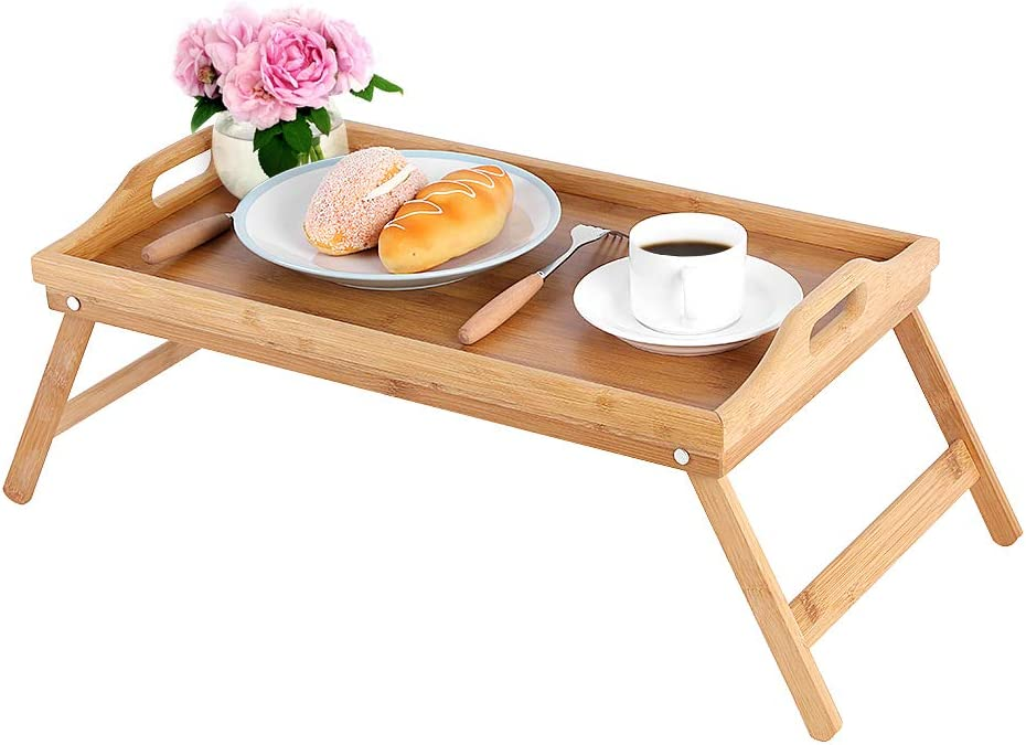 Mesa Mall Cocoarm Breakfast Tray Bamboo Folding Serving Table 25% OFF Tea Breakfa