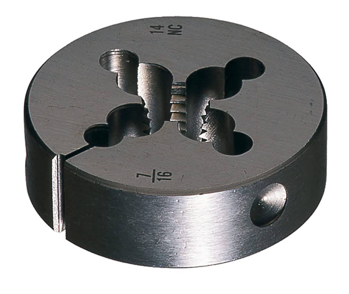 Cle-Line C65140 Carbon Steel Round Adjustable Die, 1/4-20 UNC