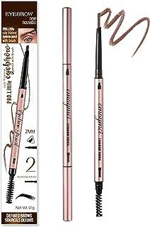 مداد ابرو فوق العاده ظریف Lezero 2PCS ، آرایش ابرو ضد آب با انتهای دوتایی ، آرایش حرفه ای 2 میلی متر خوب