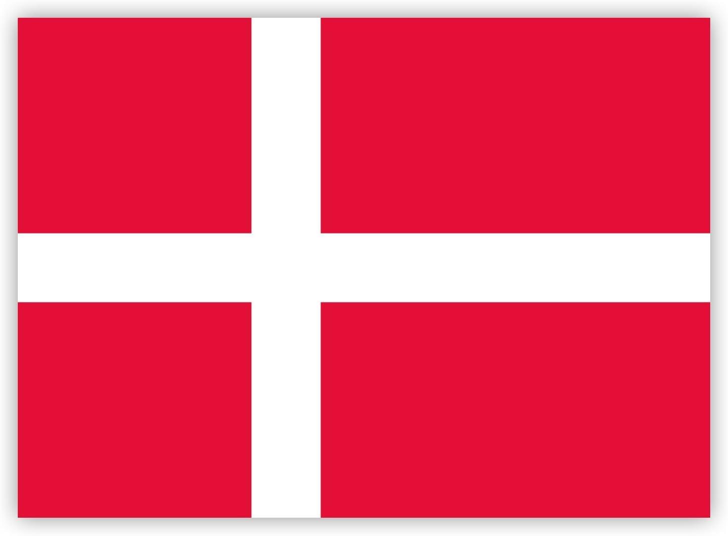 10 X Aufkleber Dänemark Flagge 7 4 X 5 2 Cm Für Innen Und Außen Auto