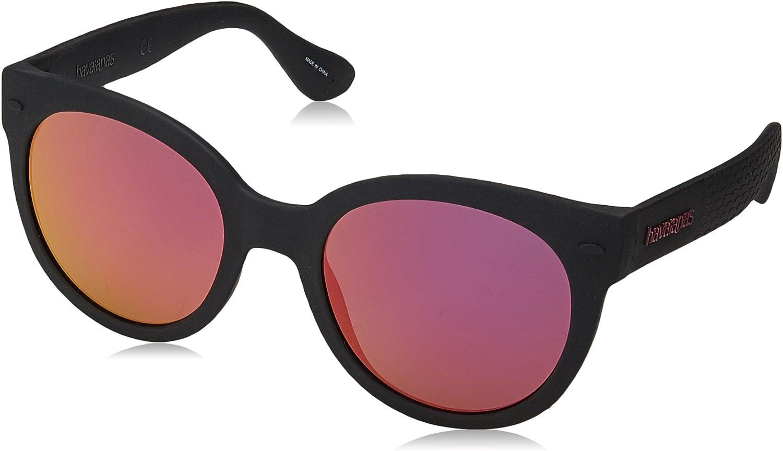 Havaianas Women's Ngoldnha m Round Sunglasses, Black, 52 mm