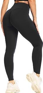 STARBILD Women's High Waist Scrunch Ruched Butt Lifting Leggings Tummy Control Workout Sport Gym Tights Push Up Yoga Pants