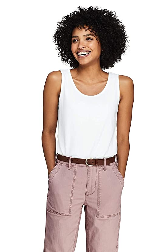 Lands' End Women's Cotton Tank Top