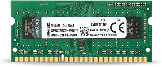 Memoria RAM 4GB DDR3 1600Mhz para Notebook Kvr16s11s84