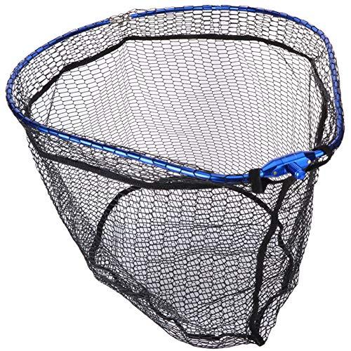 Rete di accesso di phishing Pieghevole Pesca Atterraggio Net Net Alluminio Lega di pesca rete rete Grande rete pieghevole 55x44cm figura di pera cornice diddle-net rock maglia Speciale per la pesca