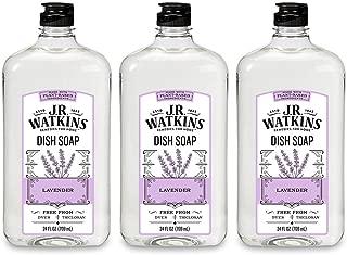 J.R. Watkins Dish Soap, Liquid, 24 fl oz, Lavender (3 pack)