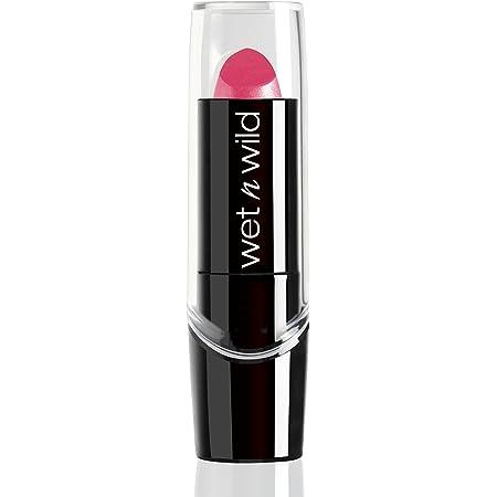Wet n Wild - Silk Finish Lipstick - Barra de Labios con Color Intenso, Cremoso y Suave - con Aloe Vera, Aceite de Macadamia y Vitaminas A y E - Pink Ice - 1 Unidad
