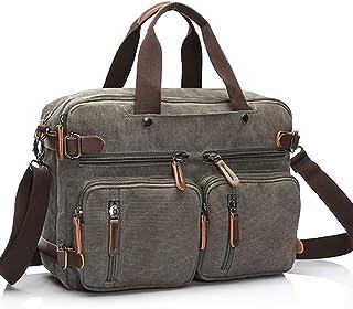 Travel Leisure Canvas Bag Business Big Capacity Briefcase Portable Slung Backpack Bag Shoulder Bag for Women (Color : Grey)
