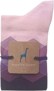 Giraffe Cool Calcetín para Mujer de Color Lila Rombos morados