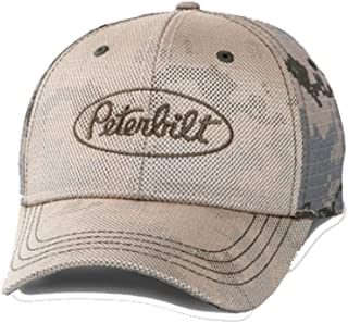 Peterbilt Motors Trucks Distressed Winter Camo Camouflage Cap//Hat