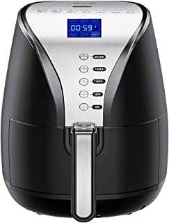 Air Fryer, 4.2 Quart Oilless Hot Air Fryer(W/Cookbook) Oven Larger Cooker, Auto Off, Nonstick Basket, Dishwasher Safe, LCD Screen & Convenient Buttons, BPA Free, 1500W, 2 Years Warranty-095AB