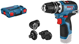 Bosch Professional 12V GSR 12V-35 FC Cordless Drill/Driver (with four FlexiClick Adapters, Without Rechargeable Battery an...