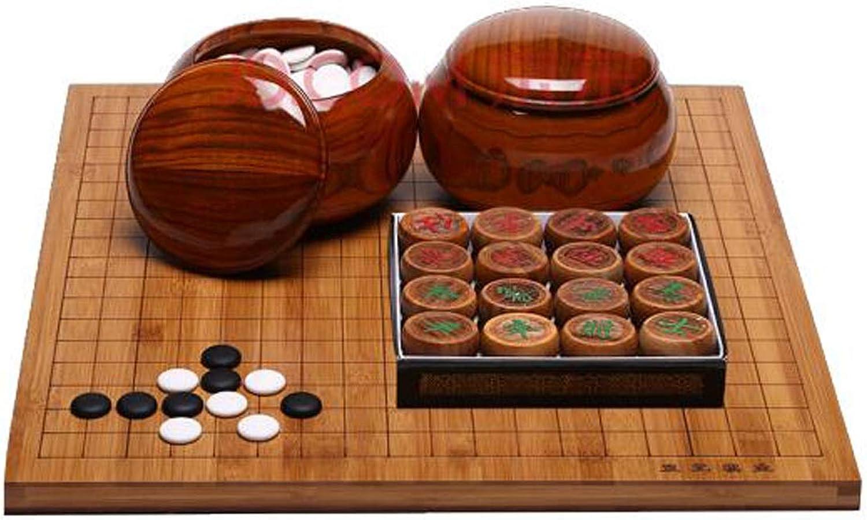 envio rapido a ti SHENGSHIHUIZHONG Go Set, Gossip Scorpion, piezas de ajedrez ajedrez ajedrez simples y de doble Cochea, latas de ajedrez de bambú y de madera, rodeado de dos tableros de ajedrez, cubierta de eucalipto de seda de oro ama  Sin impuestos