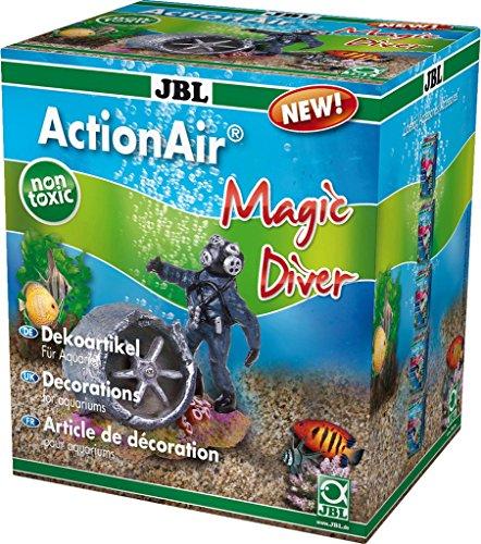 JBL Action Air Magic Diver 6430700 Figurine de Plongeur avec Propulsion d'air pour Aquarium