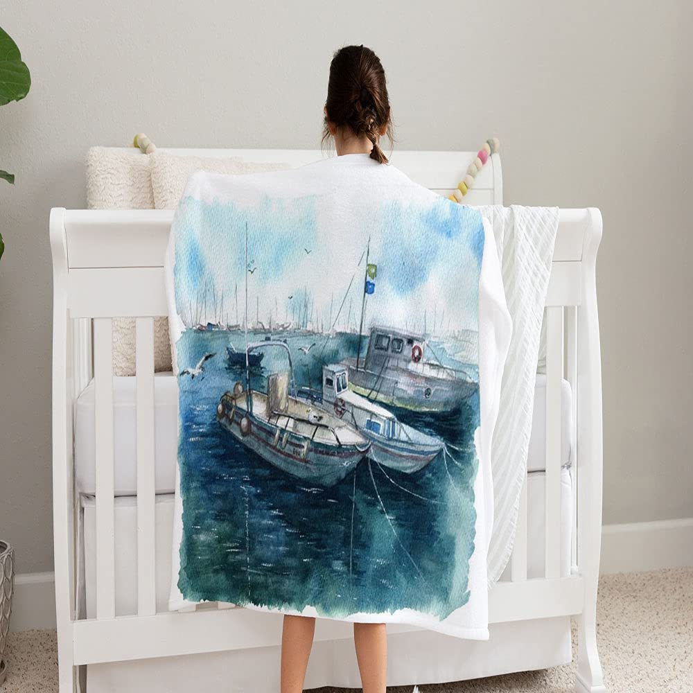 GANTEE Watercolor Landscape Texture 67% OFF of fixed price Sea 2021 spring and summer new Blanket Painting Sketch