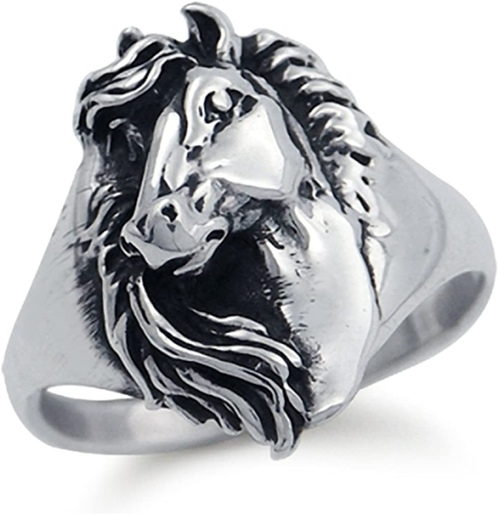 Silvershake Raleigh Mall 925 Max 73% OFF Sterling Silver Horse Ring