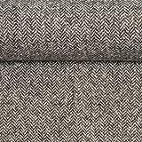 Swafing Tweed Camilla Fischgrät grau 50 x 150 cm Meterware