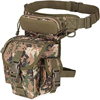 Samxu Drop Leg Pouch Outdoor Metal Hunt Detection Multi-Function Bag, Portable Treasure Holder Waist Bag (Jungle Green)