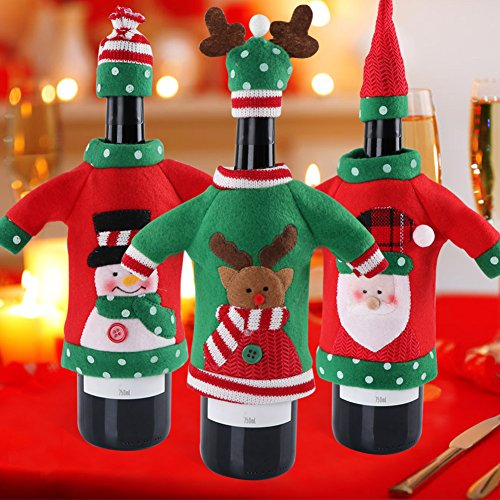 Ugly Christmas Sweater Wine Bottle Cover