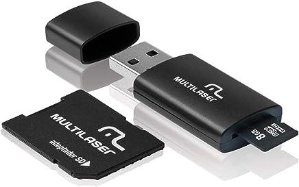 Kit 3 em 1 - Micro SD + Cartão SD + Pen Drive - 8 GB MULTILASER-MC058