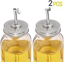 Mason Jar Pour Spout Lids,Mason Jar Oil Infusions Lids Liquor Oil Pour Spout Open Closed Dispenser with Caps Regular Mouth Bottle Cap Jar Hole Lid