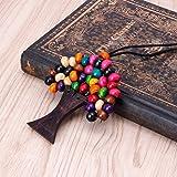 ShowkingL, collana con ciondolo a forma di albero della vita, con perline in legno, stile etnico