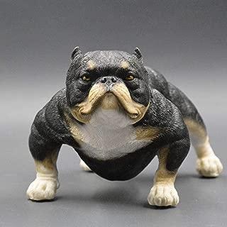 YYi-kuG-Statues American Bully Pitbull Sculpture Pet Portrait Dog Statue Figurine Memorial Car Decoration (Color : A)