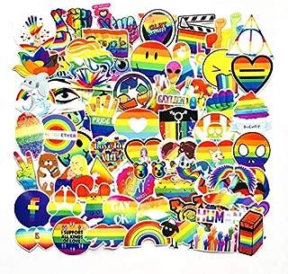 A Sticker Shop 100pcs Rainbow Pride Show Creative DIY Stickers Funny Decorative Cartoon for Cartoon PC Luggage Computer Notebook Phone Home Wall Garden Window Snowboard