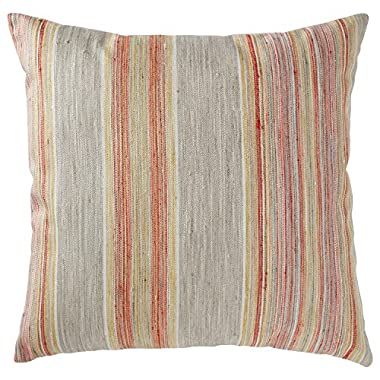 Rivet Bohemian Stripe Pillow, 17  x 17 , Sunset