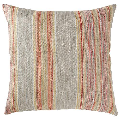 Amazon Brand – Rivet Bohemian Stripe Decorative Pillow, 17' x 17', Sunset
