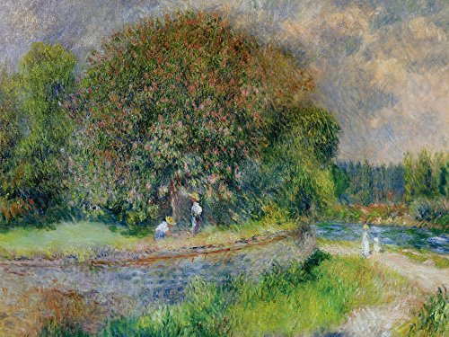 Artland Alte Meister Bild Pierre-Auguste Renoir Wandbild 30 x 40 cm Blühender Kastanienbaum Leinwandbild Impressionismus Kunst B5DV