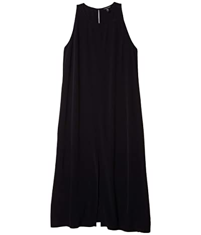Eileen Fisher Round Neck Maxi Dress (Black) Women