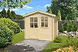 Gartenhaus G183-28 mm Blockbohlenhaus, Grundfläche: 4 m², Satteldach