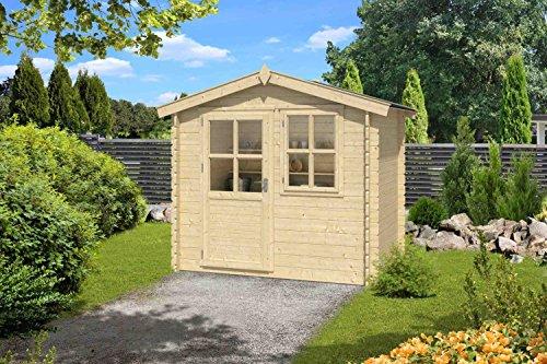 *Gartenhaus G183 – 28 mm Blockbohlenhaus, Grundfläche: 4 m², Satteldach*