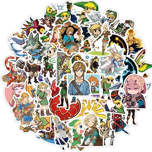 Zelda 100 unids/set juego La leyenda de Zelda pegatinas impermeable maleta monopatín Notebook PVC pegatina refrigerador Naklejki
