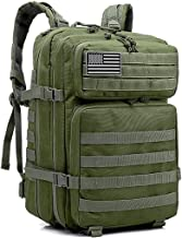 HAOMUK Military Army Tactical Backpack Bag, Large 3 Day Assault Pack Army Molle Bag Backpacks Rucksack
