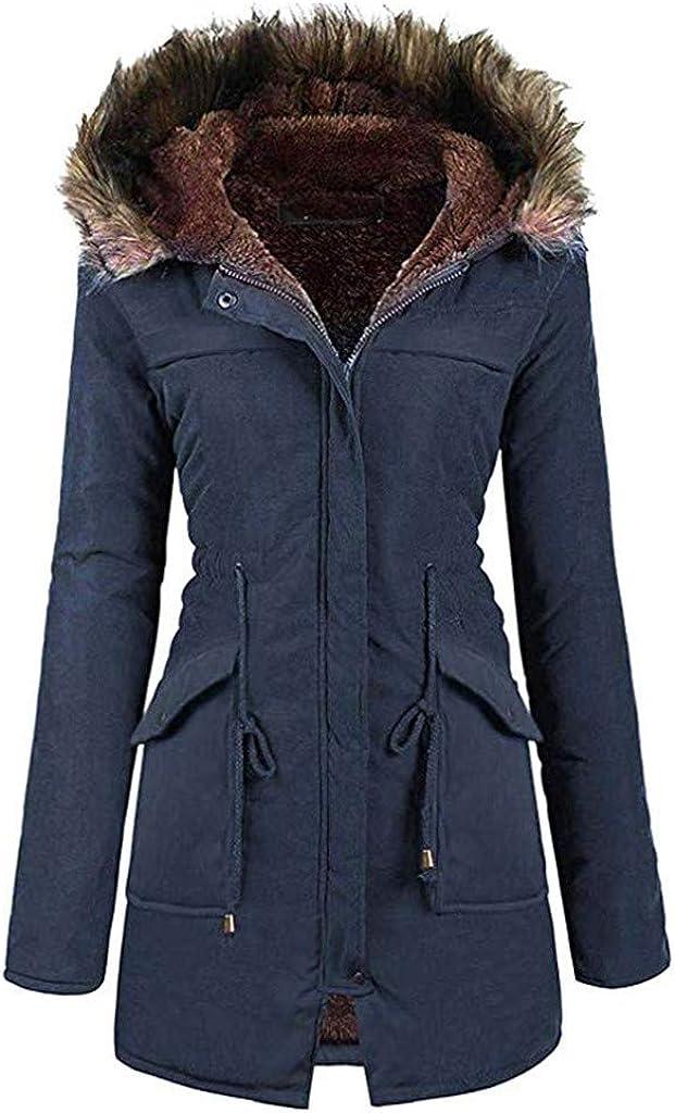 HGWXX7 Womens Coats Faux Fur Ranking TOP13 Hood Fleece Plus Outerwear Si Lined Outlet SALE
