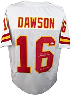Len Dawson SBMVP Autographed Kansas City Chiefs Custom White Football Jersey JSA