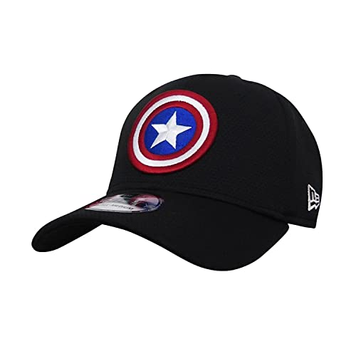 3efeb03046de90 Captain America Shield Black 39Thirty Cap