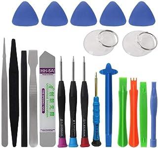 Cochanvie 21 in 1 Mobile Phone Repair Tools Kit Spudger Pry Opening Tool Screwdriver Set for iPhone XR Xs X 8 7 6S 6 Plus ...