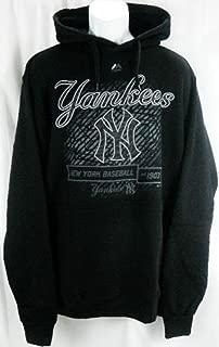 VF York Yankees MLB Majestic Black Hood Scrape Hoodie Big & Tall Sizes