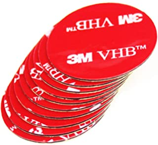 3M VHB 4910 Clear Double-Sided Adhesive Foam Tape Round 25mm Diameter x 1mm Thick (10 Pieces)