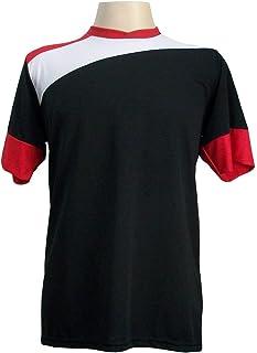 2b2e07937080b Jogo de Camisa com 14 unidades modelo Sporting Preto Branco Vermelho + 1  Goleiro