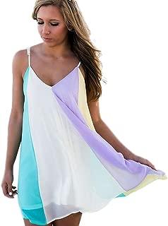 Dress Cover up Ladies Rainbow Women Beachwear Bikini Colorful Summer Dresses