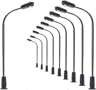 Evemodel LQS05WM 10pcs Model Railway Train Lamp Post Street Light Warm White N Z Scale LEDs NEW