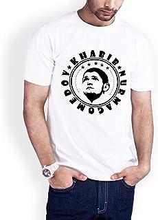 Casual Printed T-Shirt for Men, The hero Habib Mammadov 04, White
